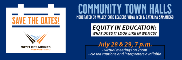 Web Post: Student-Led Equity Town Halls July 28 and 29
