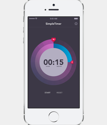 Smart phone timer