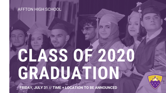 Graduation Rescheduled for July 31