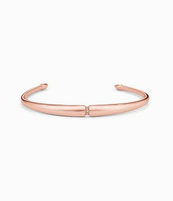 Pave inset cuff, rose gold