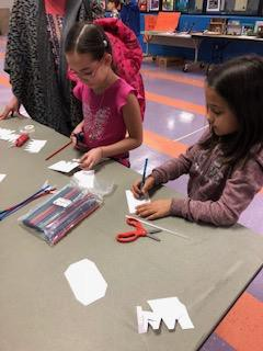 Straw rockets! UNO STEM students facilitated this station.