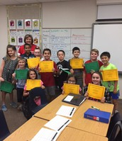 Some of our 5th Grade Principal List and Honor Roll Pirates!