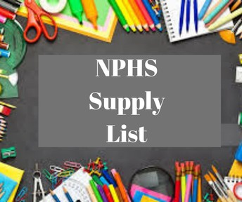 What Supplies Are Needed At NPHS?