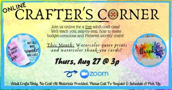 8/27 - Crafter's Corner (Online)
