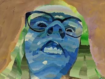 Value Portrait Painting - Eighth Grade