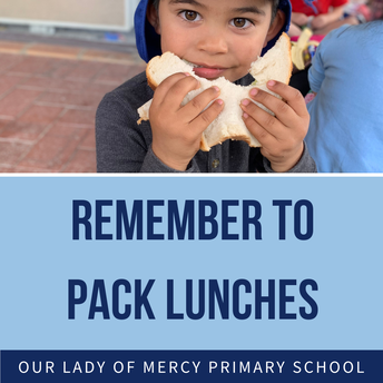 Remember to pack lunch for your child