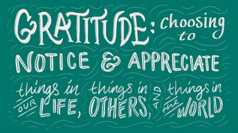 Character Trait of the Month:  Gratitude!