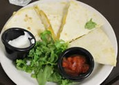 Half Moon Quesadilla