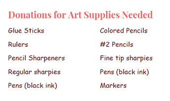 Art Supply Donations Needed
