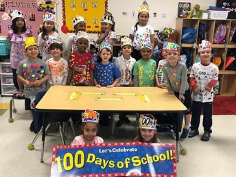 Kindergarten Celebrates 100 Days of School!