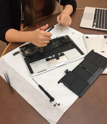 They learn by taking the computers apart.