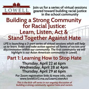 lowell public schools racial justice series part II