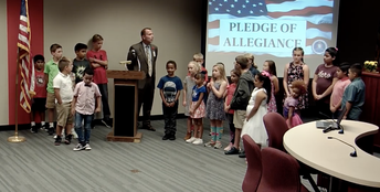 Thomas Jefferson Students Lead Pledge of Allegiance