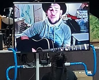 James Durbin on large Zoom screen