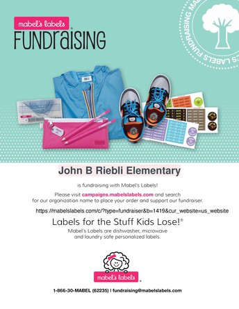 Ongoing Fundraiser w/Mabel's Labels