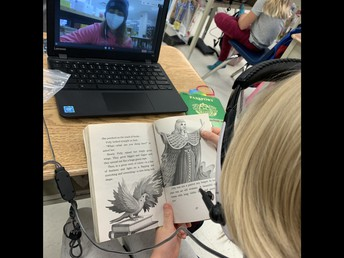 Virtual Reading Buddies with BSS continues to be a hit - each of our two classes meets up twice a week!