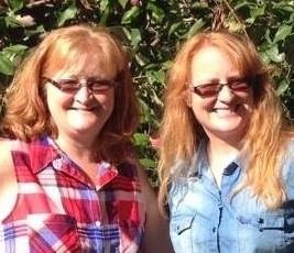 Ellen (left) & her sister