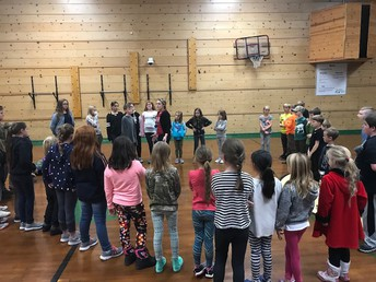 CES Drama Club's 1st practice