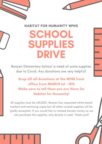 Habitat For Humanity - School Supply Drive