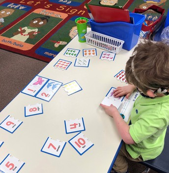 Learning Nunber Concepts in Ms. Poston's Pre-K/Kinder Class