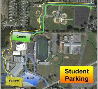 Student Parking Areas