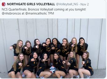 Girls Volleyball- NCS Quarterfinalists!