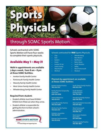Free Sports Physicals in May