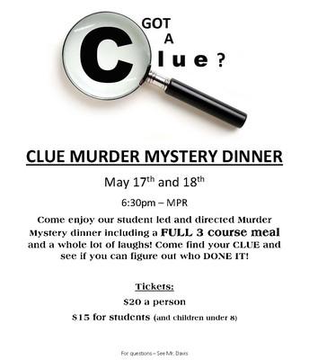 Clue Murder Mystery Dinner