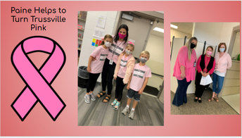 Paine helps to turn Trussville pink with pictures of students