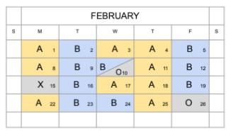 Check the In-Person Calendar