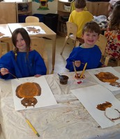 Painting owls.