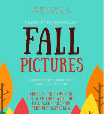 Thursday, 11/15    Pay $5 & Get a Fall Picture!