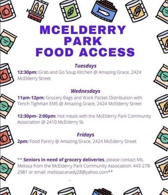 MCELDERRY PARK FOOD ACCESS
