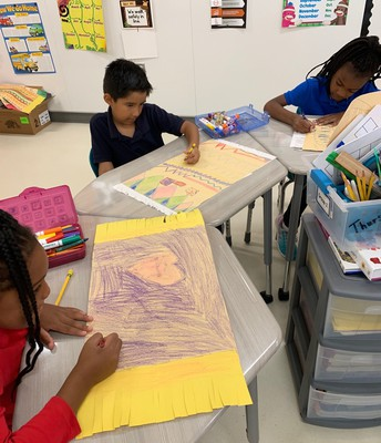 Mrs. Raven's class makes Zapotec Rugs