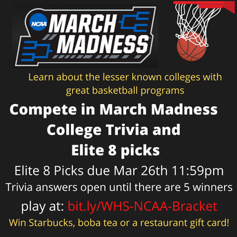 Play NCAA March Madness for this week's Klaus's Kernels