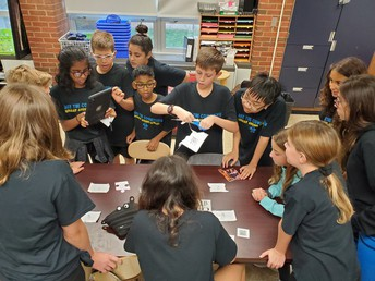 Murray Avenue Students Engaged in Team-Building Exercises during the Opening of School Celebration