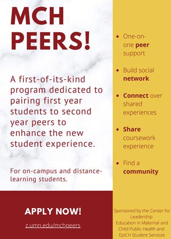 MCH Peer Program Kick-off (9.3.20)