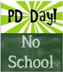 Reminder - NO SCHOOL ON FRIDAY, SEPTEMBER 25.
