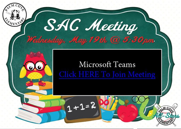 CLICK HERE TO JOIN SAC MEETING