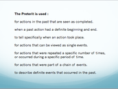 USES OF THE PRETERIT