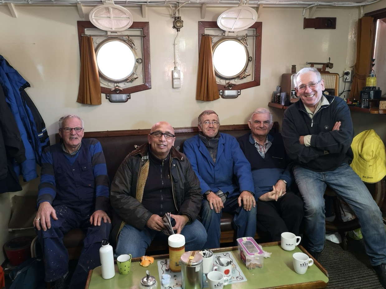 the crew behind the Lichtschip Texel
