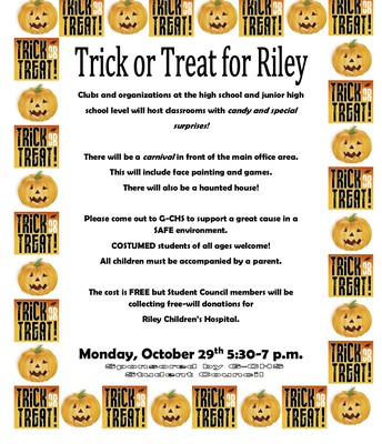 Trick or Treat for Riley