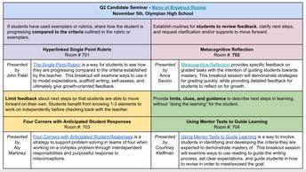 Q2 Candidate Seminars: November 5 & 6, 2018