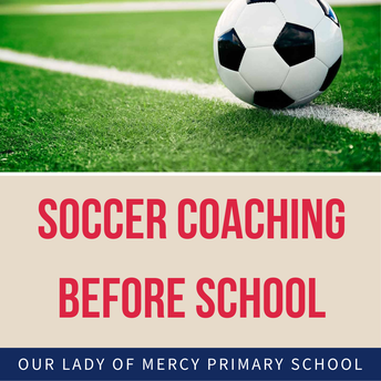 Soccer coaching before school - Years 1 to 6