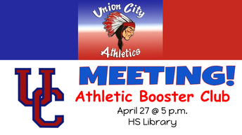 Athletic Booster Club Meeting Tuesday 4/27/18