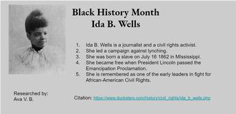 Ida B. Wells - American Journalist
