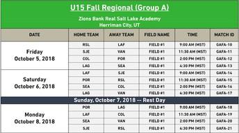 U15 Game Schedule