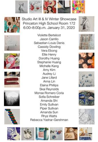 PHS Studio Art III & IV Winter Showcase 2020