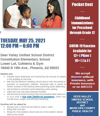 Immunization Clinic & COVID 19 Vaccination