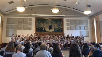 Grade 7 & 8 Chorus Performs at Kutztown University